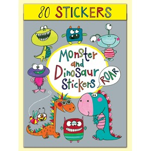 Stickers pakning, 80, Monster and Dinosaur