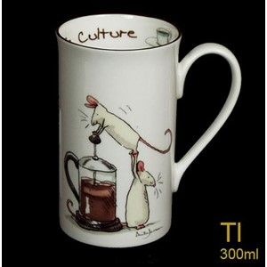 Krus Two Bad Mice, høyt, 300ml, Coffe Culture