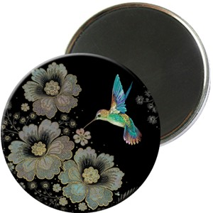 Magnet rund 56mm, Jewels, kolibri