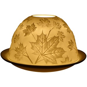 Telys lampe, porselen,  Maple Leaves