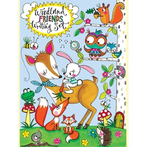 "Brevsett for barn m/klistremerker ""Woodland Friends"""