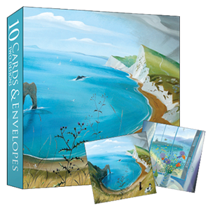 Kortmappe140x140, Almanac Gallery, Durdle Door & Window