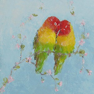 Kortmappe140x140, Almanac Gallery, From the Heart&Love Birds