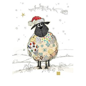 Doble julekort 12x17, Kooks, Santa Sheep