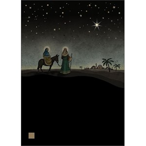 Doble julekort 12x17, Jewels, Mary & Joseph