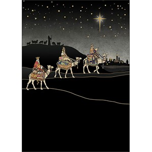 Doble julekort 12x17, Jewels, Three Kings Journey