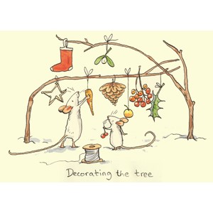 Kort Two Bad Mice: Decorating Tree