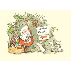Julekort dobbelt, Two Bad Mice, Santas Grotto
