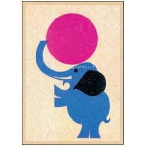 Enkelt kort  Art Press, 148x105, Elephant Acrobat