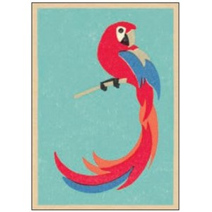 Enkelt kort  Art Press, 148x105, Parrot