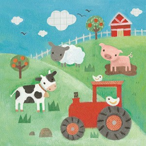 Doble kort,10x10x, Maddicott,Piece of Cake, Farmyard Animals