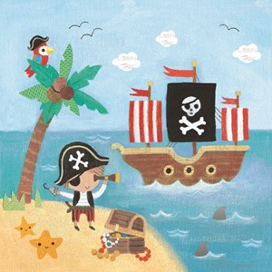 Doble kort,10x10x, Maddicott,Piece of Cake, Pirate Ship