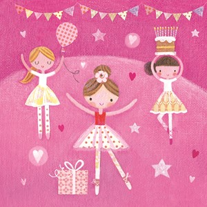 Doble kort,10x10x, Maddicott,Piece of Cake, Ballerina Birthd