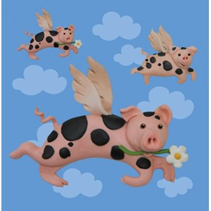 Doble kort 100x100, Small Fry, Flying Pigs
