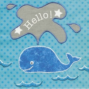 Doble kort 100x100, Small Fry, Whale