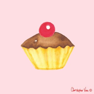 "Kort 100x100, Christopher Vine Design, ""Cupcake"""