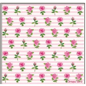 "Kort 100x100, Christopher Vine Design, ""Rose Garden"""