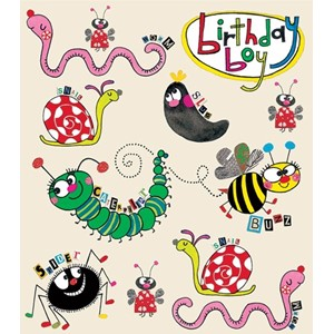 Minikort Rachel Ellen Designs, 85x75, Creepy Crawlies
