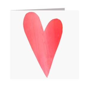 Minkort 71x71mm, The Square Card Co, Heart