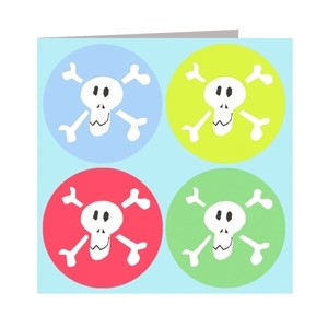 Minkort 71x71mm, The Square Card Co, Skulls