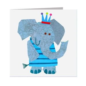 Minkort 71x71mm, The Square Card Co, Elephant