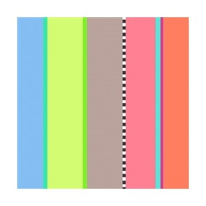 Minkort 71x71mm, The Square Card Co, Stripy