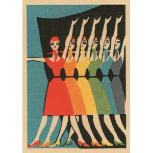 Doble kort,120x170, Vintage Matchbox, Performers in Rainbow