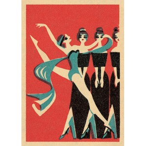 Doble kort,120x170, Vintage Matchbox, Dancer with Scarf