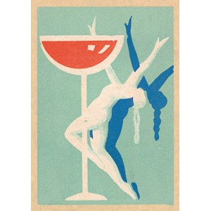 Doble kort,120x170, Vintage Matchbox, Dancing Performer