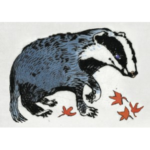 Kunstkort 170x120mm, Richard Spare, Badger Cub