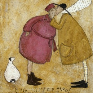 Kunstkort 160x155mm, Sam Toft,  Big Smackeroo