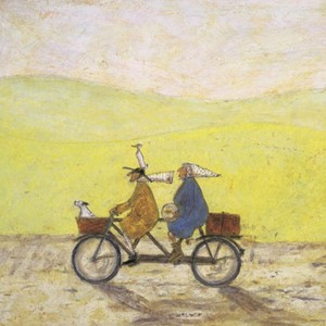 Kunstkort 160x155mm, Sam Toft,  Grand Day Out