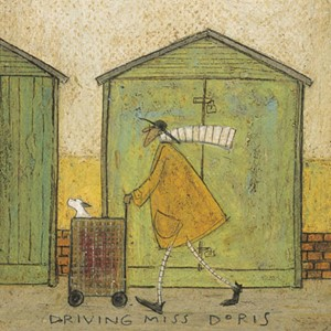 Kunstkort 160x155mm, Sam Toft,  Driving Miss Doris