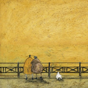 Kunstkort 160x155mm, Sam Toft,  A Romantic Interlude