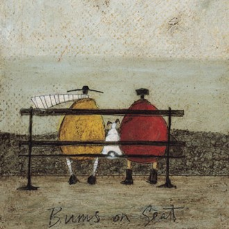 Kunstkort 160x155mm, Sam Toft,  Bums on Seat