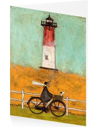Kunstkort 120X170mm, Sam Toft, Riding by the Light