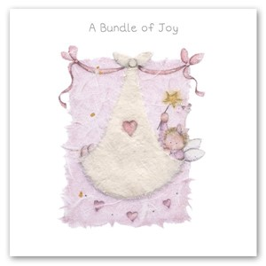 Doble kort 15x15cm, Bernie Parker, Bundle of Joy, rosa