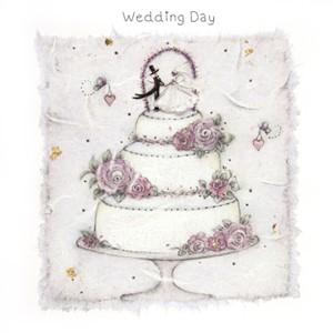 "Doble kort 150x150mm, ""Whispers on Wings"", Wedding Day"