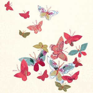Doble kort 159x159, Claire, Beatiful Butterflies