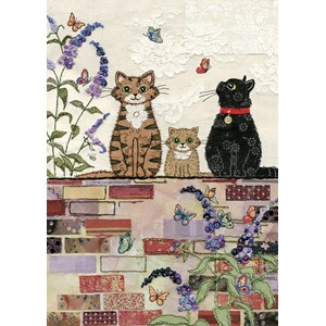 Doble kort 167x118, Amy`s Cards, Cats on a Wall