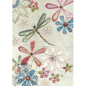 Doble kort 167x118, Amy`s Cards, Floral Dragonfly
