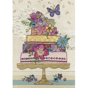 Doble kort 167x118, Amy`s Cards, Flower Cake