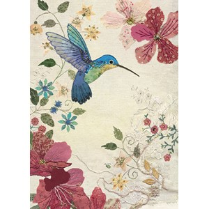 Doble kort 167x118, Amy`s Cards, Azalea Hummingbird