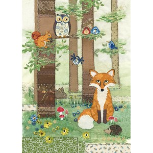 Doble kort 167x118, Amy`s Cards, Woodland Fox