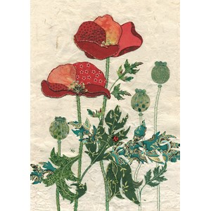 Doble kort 167x118, Amy`s Cards, Pattern Poppies