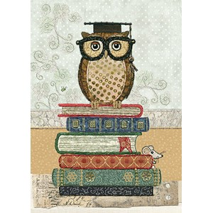 Doble kort 167x118, Amy`s Cards, Book Owl