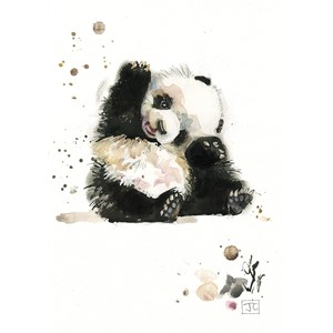 "Doble kort Bug Art, 120x170, ""Critters"", panda"