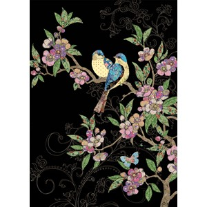 "Kort BUG ART 167x118, Jewels ""Birds and Blossom"""