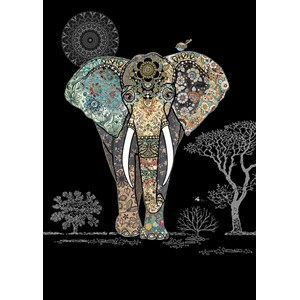 Kort BUG ART,Jewels, Decorative Elephant