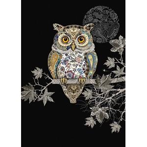 Kort BUG ART,Jewels, Decorative Owl